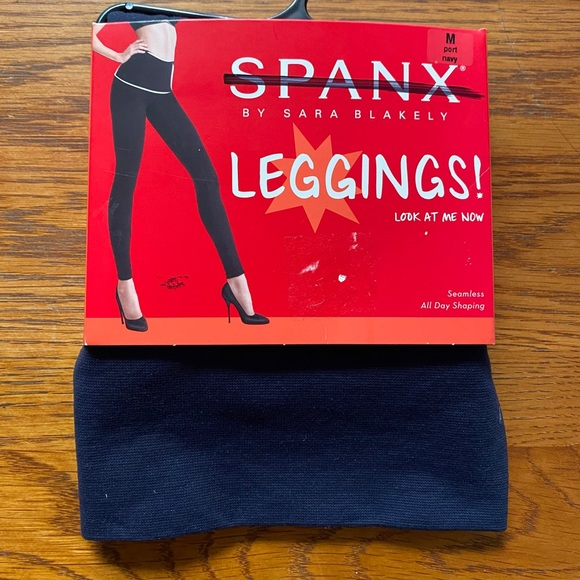 SPANX by Sara Blakely Seamless LOOK AT ME NOW Leggings Shaping Flattens Stomach